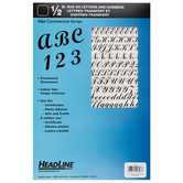 Headline Black Rub-On Commercial Letters & Numbers